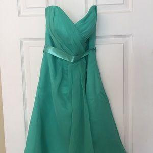 Dresses & Skirts - Turquoise strapless dress